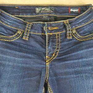 Silver Suki Super Stretch Blue Jeans